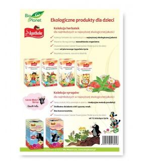 Natessance Kids Żel do mycia ciała i włosów dla dzieci 2 w 1 Malina 500ml
