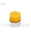 Świeca tealight zwijana 4 cm x 4 cm z wosku pszczelego Pasieka JuRajska
